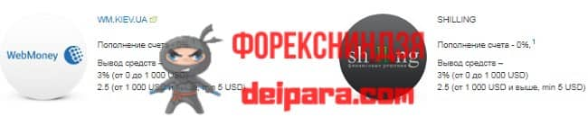 Рисунок 7. Условия дополнительных способов платежей для украинцев, указанные на официальном сайте Альпари Украина.