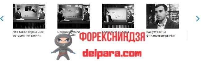Рисунок 4. Некоторые темы занятий видео обучения в Teletrade по программе «Азбука инвестора».