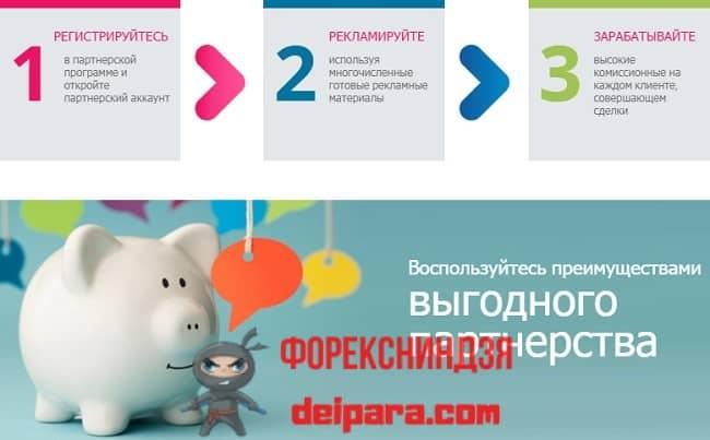 Рисунок 3. Teletrade DJ Ltd предлагает партнерское сотрудничество по условиям, описанным на сайте partner.teletrade-dj.