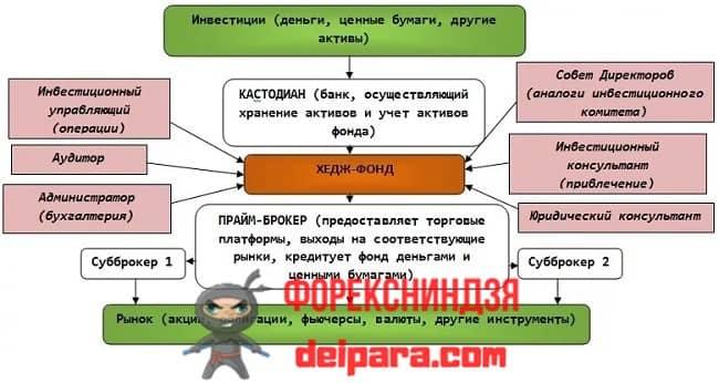 Рисунок 1. Структура компаний-хедж-фондов.