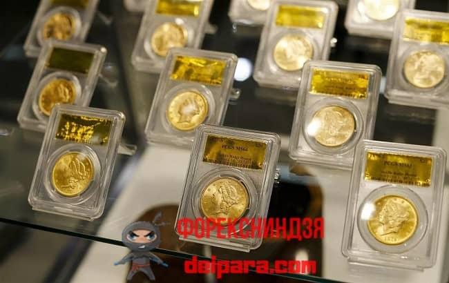 Рисунок 3. Инвестиции в драгоценные монеты лучше всего делать в банке.