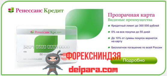 Тарифы по кредитной карте