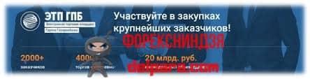 Преимущества ЭТП от Газпромбанка