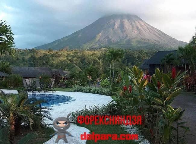 Рисунок 1. Типичный пейзаж Коста-Рики – самой дешевой страны мира для жизни.
