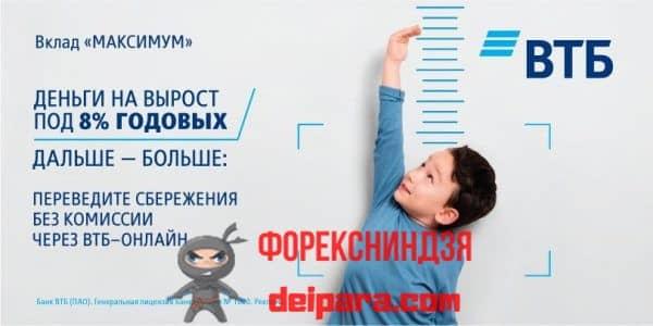 ВТБ вклад Максимум