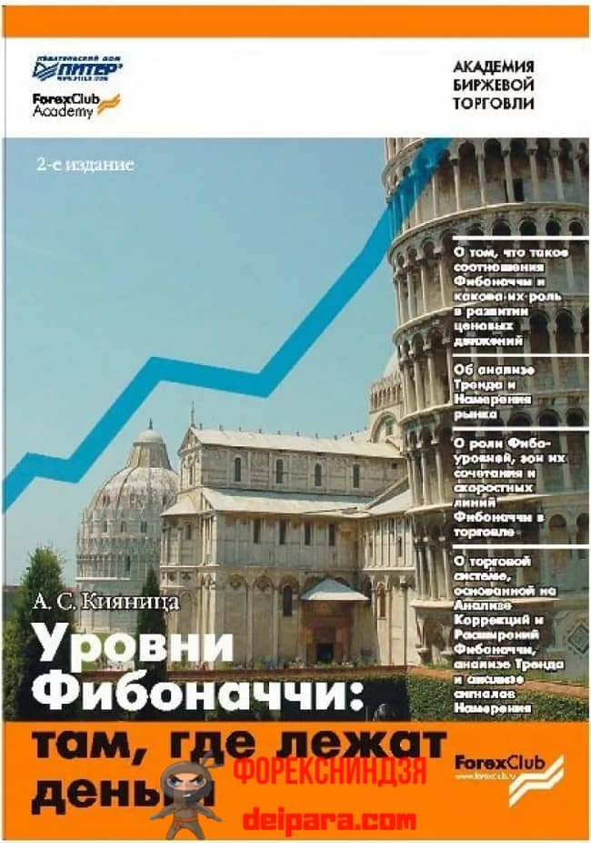 Рисунок 1. Обложка одного из изданий А. Кияница, Л. Братухин «Уровни Фибоначчи – там где деньги лежат».