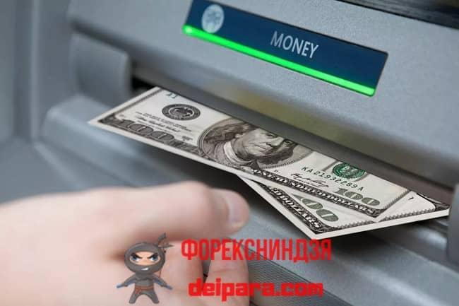Рисунок 1. Возможен вывод денежных средств с расчетного счета ООО (обналичивание денег) снятием в банкомате.
