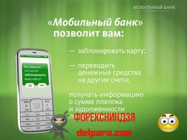 Что такое услуга мобильного банка в Сбербанке
