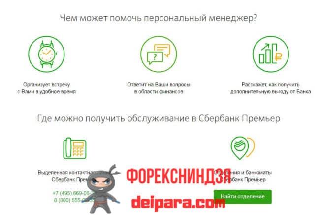 Сбербанк Премьер банковские услуги