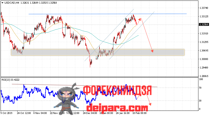 USD/CAD прогноз курса Доллар Канадский Доллар на 13.02.2020