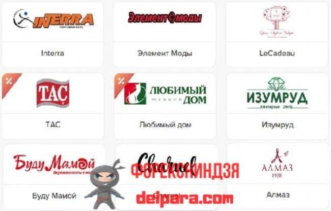 Партнерская сеть карточек Халва от Совкомбанке