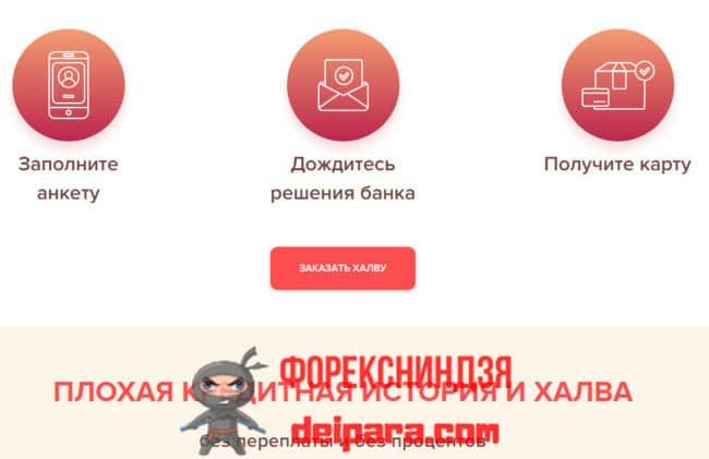 Как получить карту Халва от Совкомбанка с плохой кредитной историей
