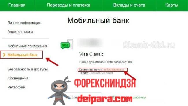Наиболее вероятные причины блокировки мобильного банка Сбербанка