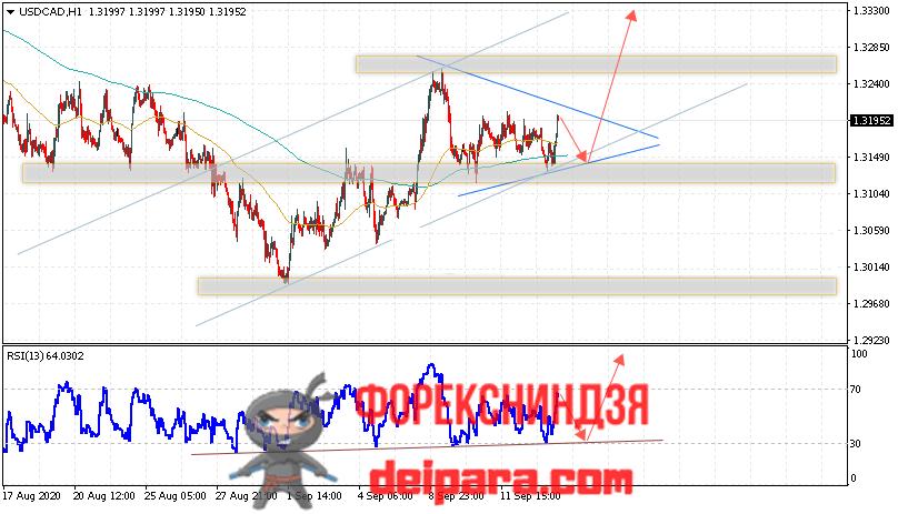 USD/CAD прогноз курса Доллар Канадский Доллар на 16.09.2020