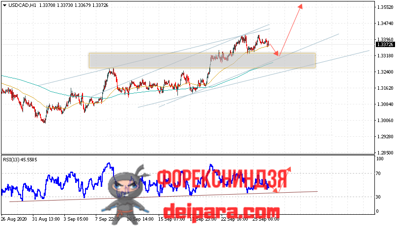 USD/CAD прогноз курса Доллар Канадский Доллар на 29.09.2020