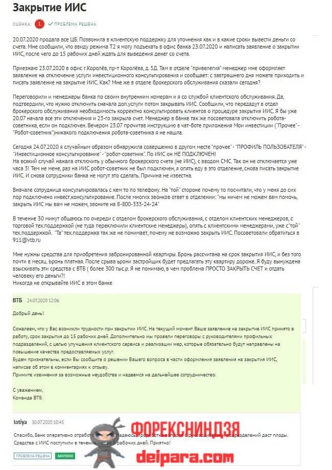 Рисунок 2. Важно знать, как правильно закрыть ИИС в ВТБ – тогда инвестиции будут в сохранности.